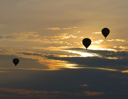 hot air balloon nashville tn sunset